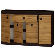 Большой комод с дверьми и ящиком Эверест Соната-7 венге + аппалачи