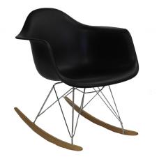 Кресло качалка Domini Лаунж (ПЛ черный)