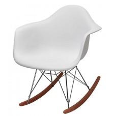 Кресло качалка Domini Лаунж (ПЛ белый)