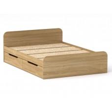 Двуспальная кровать Компанит Виола - 140-4 ящика дуб сонома