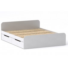 Двуспальная кровать Компанит Виола - 160-4 ящика белый