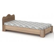 Большая односпальная кровать Компанит-100 МДФ дуб сонома