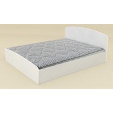 Двуспальная кровать Компанит Нежность-160 МДФ альба (белый)