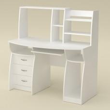 Стол компьютерный Компанит Комфорт-3 альба (белый)