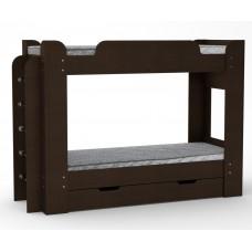 Двухъярусная кровать Компанит Твикс-1 венге