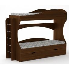 Двухъярусная кровать Компанит Бриз орех экко