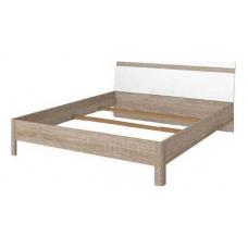Кровать БРВ Либерти LOZ_160 (каркас) дуб сонома/белый глянец (004)