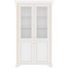 Пенал-витрина Гербор Вайт 2D/2W ясень снежный/сосна золотая (010-1)