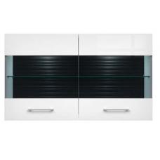 Навесной шкафчик-витрина БРВ Авила SFW_2W/7/12 белый/белый глянец (005)