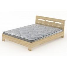 Двуспальная кровать Компанит Стиль-160 дуб сонома