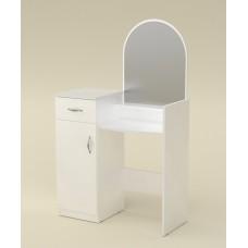 Туалетный столик Компанит Трюмо-1 альба (белый)