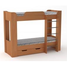 Двухъярусная кровать с ящиком Компанит Твикс-2 ольха