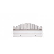 Диван-кровать с ящиком Гербор Салерно LOZ_80 белый (Авеню полосатый) (015)
