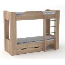 Двухъярусная кровать с ящиком Компанит Твикс-2 дуб сонома
