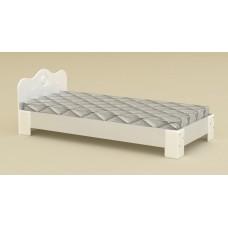 Большая односпальная кровать Компанит-100 МДФ альба (белый)