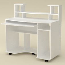 Стол компьютерный Компанит Комфорт-1 альба (белый)