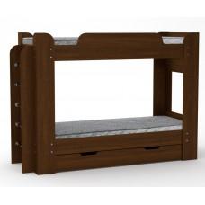 Двухъярусная кровать Компанит Твикс-1 орех экко