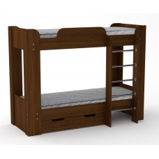 Двухъярусная кровать с ящиком Компанит Твикс-2 орех экко