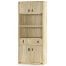 Книжный шкаф Мебель Сервис Валенсия 4Д+1Ш дуб самоа