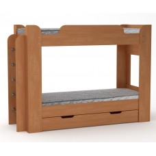 Двухъярусная кровать Компанит Твикс-1 ольха