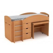 Двухъярусная кровать с выкатным столом Компанит Универсал бук