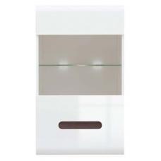 Навесной шкафчик-витрина БРВ Ацтека SFW_1W/10/6 белый/белый глянец (005)