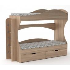 Двухъярусная кровать Компанит Бриз дуб сонома