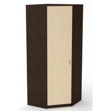 Угловой шкаф для одежды Компанит Шкаф-3У венге комби