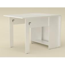 Раскладной стол книжка Компанит-1 альба (белый)