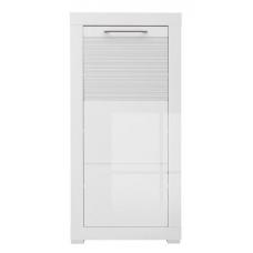 Шкафчик БРВ Флеймс REG_1D/11/5 белый/белый глянец (003)