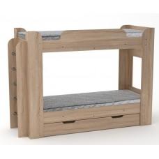 Двухъярусная кровать Компанит Твикс-1 дуб сонома