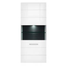Навесной шкафчик-витрина БРВ Авила SFW_1W/14/16 белый/белый глянец (004)