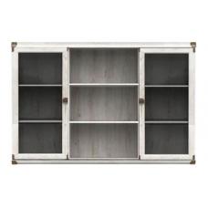 Навесной шкафчик-витрина БРВ Индиана JNAD_2W/130 сосна каньйон (013)