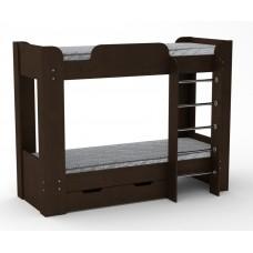Двухъярусная кровать с ящиком Компанит Твикс-2 венге