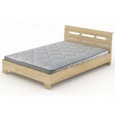 Двуспальная кровать Компанит Стиль-140 дуб сонома