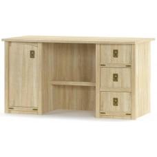 Стол письменный 2-х тумбочный Мебель Сервис Валенсия 1Д+3Ш дуб самоа