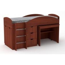 Двухъярусная кровать с выкатным столом Компанит Универсал яблоня