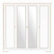 Пенал-витрина Гербор Вайт 2D/2W ясень снежный/сосна серебряная (010-1)