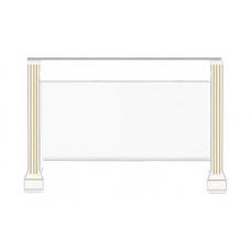 Стол туалетный Гербор Вайт ясень снежный/сосна золотая (016-4)