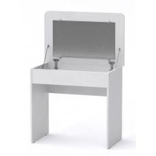 Туалетный столик Компанит Трюмо - 7 с откидным зеркалом белый