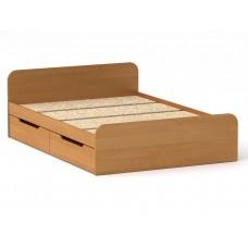 Двуспальная кровать Компанит Виола - 140-4 ящика ольха