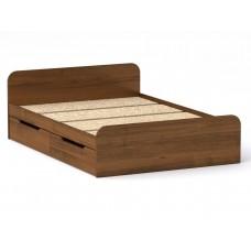 Двуспальная кровать Компанит Виола - 140-4 ящика орех
