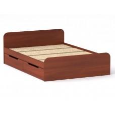 Двуспальная кровать Компанит Виола - 140-4 ящика яблоня