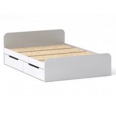 Двуспальная кровать Компанит Виола - 140-4 ящика белый