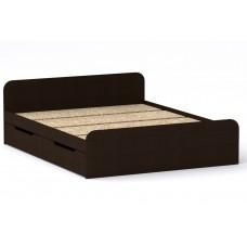 Двуспальная кровать Компанит Виола - 160-4 ящика венге темный