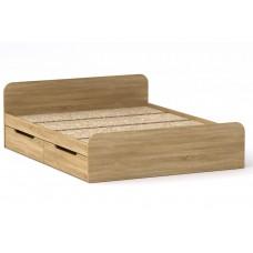 Двуспальная кровать Компанит Виола - 160-4 ящика дуб сонома