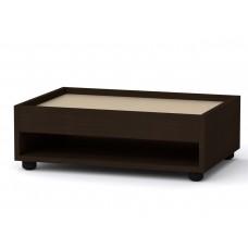 Прямоугольный стол журнальный-2 Компанит МГ-6 венге темный + светлый