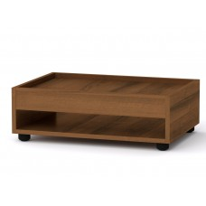 Прямоугольный стол журнальный-2 Компанит МГ-6 орех