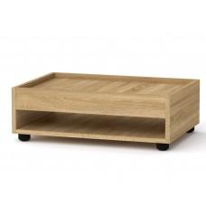 Прямоугольный стол журнальный-2 Компанит МГ-6 дуб сонома