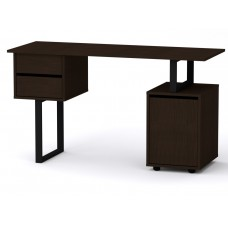 Стол письменный Компанит Лофт-4 венге темный